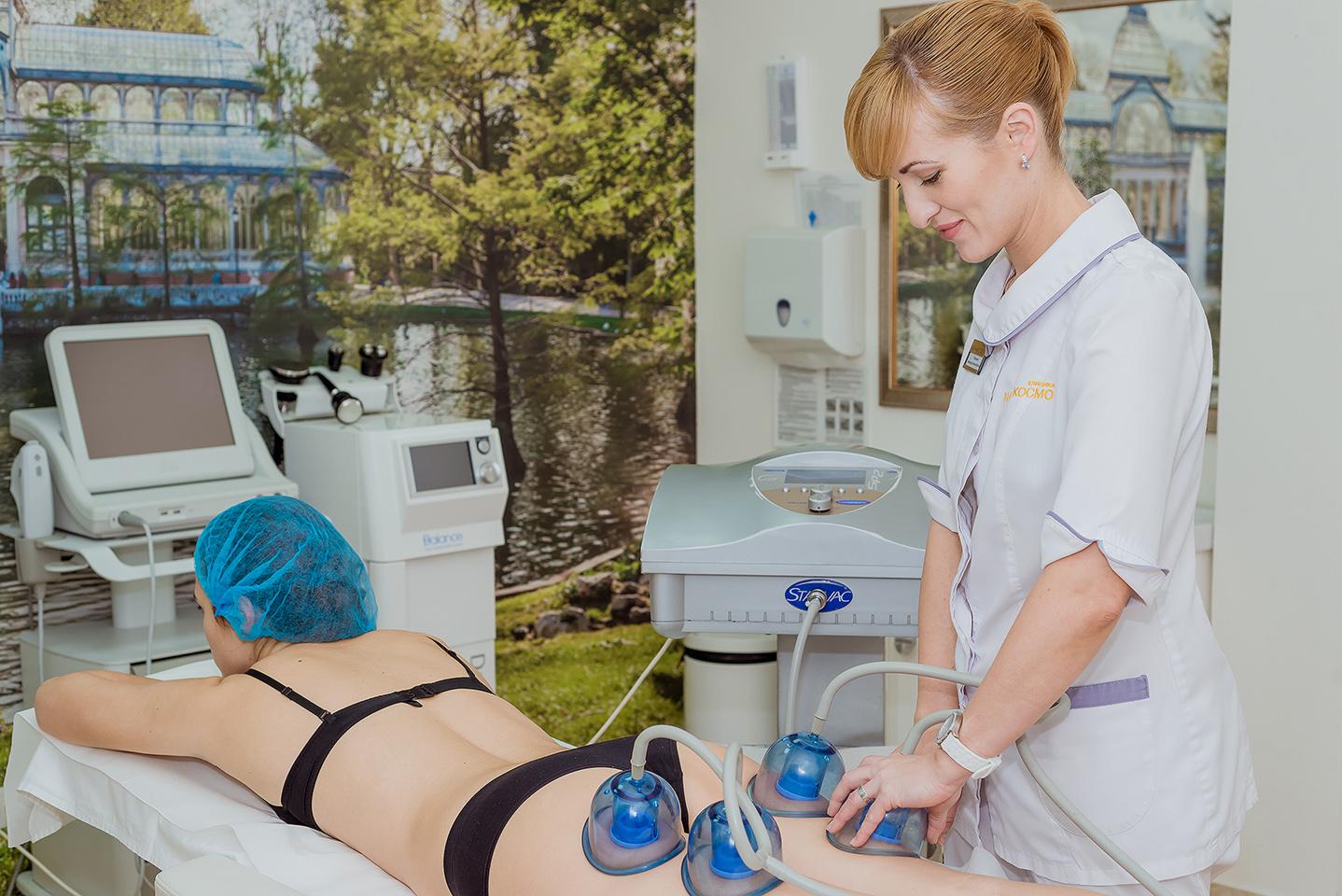 Проведение процедуры вакуумно-роликового массажа Идеальное тело без лишнего веса и целлюлита Вам помогут обрести лучшие доктора-эстетисты по телу с помощью вакуумно-роликового аппарата Starvac