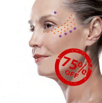 Знижка -75% на коррекцію носослезової борозди, втрачених об'ємів обличча, дрібних зморшок у кращого косметолога Франції!